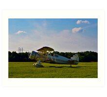 Bi-Plane in Service Art Print