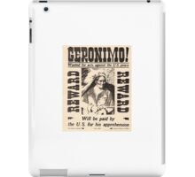 Geronimo Wanted iPad Case/Skin