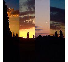 manipulated sunset  Photographic Print