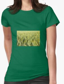 Spring green cereal plants Womens Fitted T-Shirt