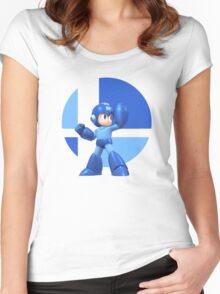 I Main Mega Man Women's Fitted Scoop T-Shirt