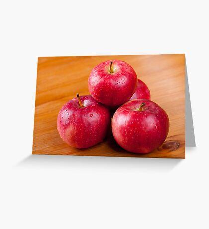 fresh ripe red apples Greeting Card