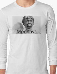 Hitchcock hates mondays. Long Sleeve T-Shirt