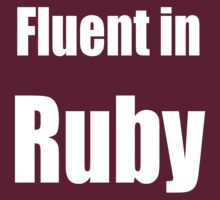 Fluent in Ruby - White on Dark Red for Ruby Programmers by ramiro
