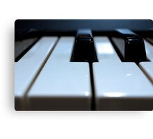 Note That Key - Synthesizer Keyboard Canvas Print