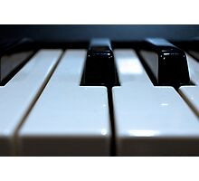 Note That Key - Synthesizer Keyboard Photographic Print