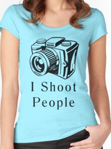 I Shoot People Women's Fitted Scoop T-Shirt