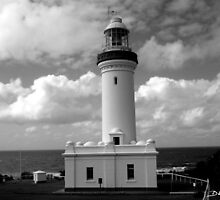 Norah Head Light House B&W by dezzsp1