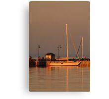Portarlington Pier, Sunset Canvas Print