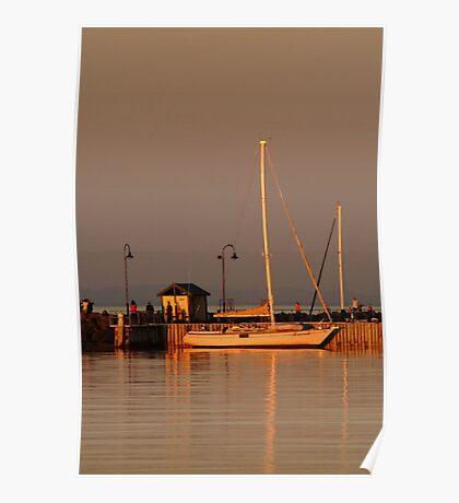 Portarlington Pier, Sunset Poster