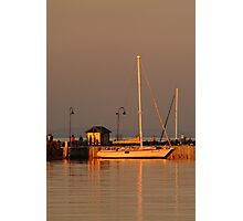 Portarlington Pier, Sunset Photographic Print