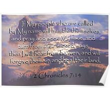2 Chronicles 7:14  Poster
