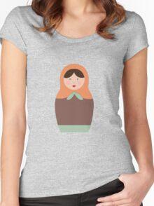 Matryoshka Doll #3 Women's Fitted Scoop T-Shirt