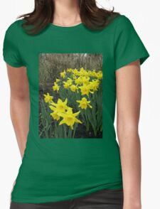 Daffodils in Woodland Womens Fitted T-Shirt
