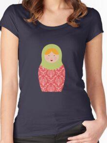 Matryoshka Doll #8 Women's Fitted Scoop T-Shirt