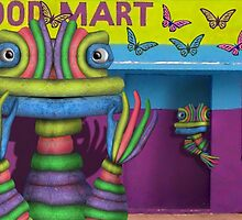 Chalk Monsters at the Butterfly Food Mart by GolemAura