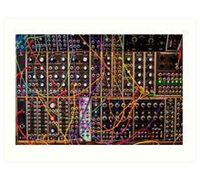 Moog Modular Synthesizer Control Panel Art Print