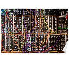 Moog Modular Synthesizer Control Panel Poster