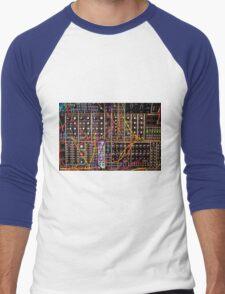 Moog Modular Synthesizer Control Panel Men's Baseball ¾ T-Shirt