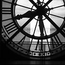 Musee D'Orsay Black & White Clock by danbullock