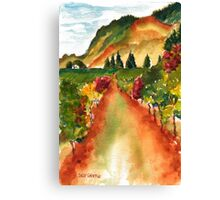 September Vineyard Canvas Print
