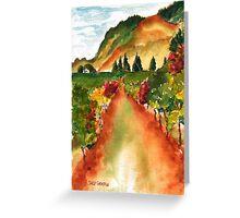 September Vineyard Greeting Card
