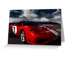 Ferrari 360 Racing Red.  Greeting Card