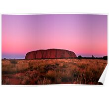 Ayers Rock Sunset  Poster