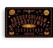 Vintage-style Halloween Talking Board Canvas Print