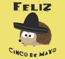 Feliz Cinco De Mayo Hedgehog One Piece - Short Sleeve