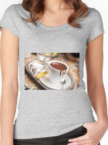 cup with hot milk chocolate Women's Fitted Scoop T-Shirt