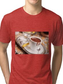 cup with hot milk chocolate Tri-blend T-Shirt