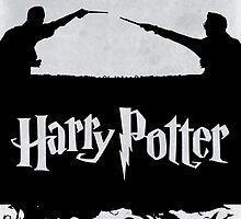 Harry and Voldemort silhouette by Zoe Toseland