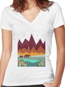 Peak Women's Fitted V-Neck T-Shirt