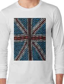 The Union Jack of Paper Clips! Long Sleeve T-Shirt