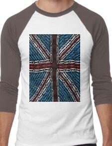 The Union Jack of Paper Clips! Men's Baseball ¾ T-Shirt