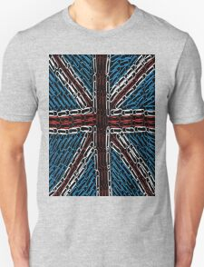 The Union Jack of Paper Clips! Unisex T-Shirt