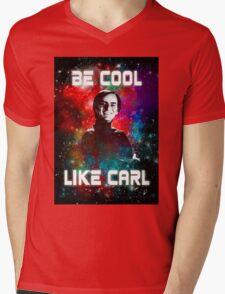 Be Cool Like Carl Mens V-Neck T-Shirt