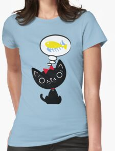 Hungry Cat Womens Fitted T-Shirt