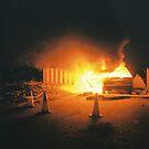 Car on fire by Gamal  Istiyanto