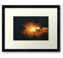 Car on fire Framed Print