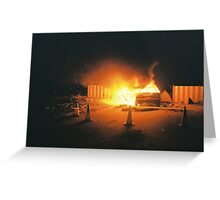 Car on fire Greeting Card