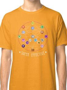 Pokemon Super Effective Type Chart Classic T-Shirt
