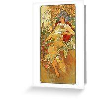 Alphonse Mucha - Autumn Greeting Card