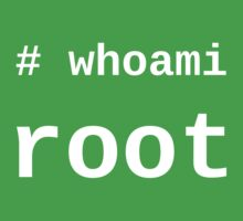 whoami root - White on Black for System Administrators Kids Tee