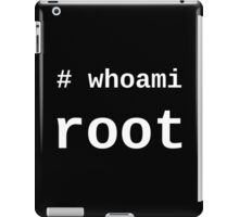 whoami root - White on Black for System Administrators iPad Case/Skin
