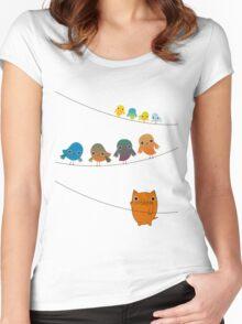 Cat Climbing Women's Fitted Scoop T-Shirt