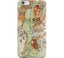 Alphonse Mucha - Winter iPhone Case/Skin