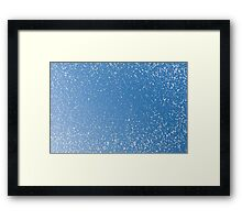 Melting snow spots blue sky Framed Print