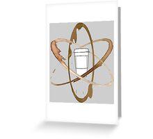 Coffee Atom Greeting Card